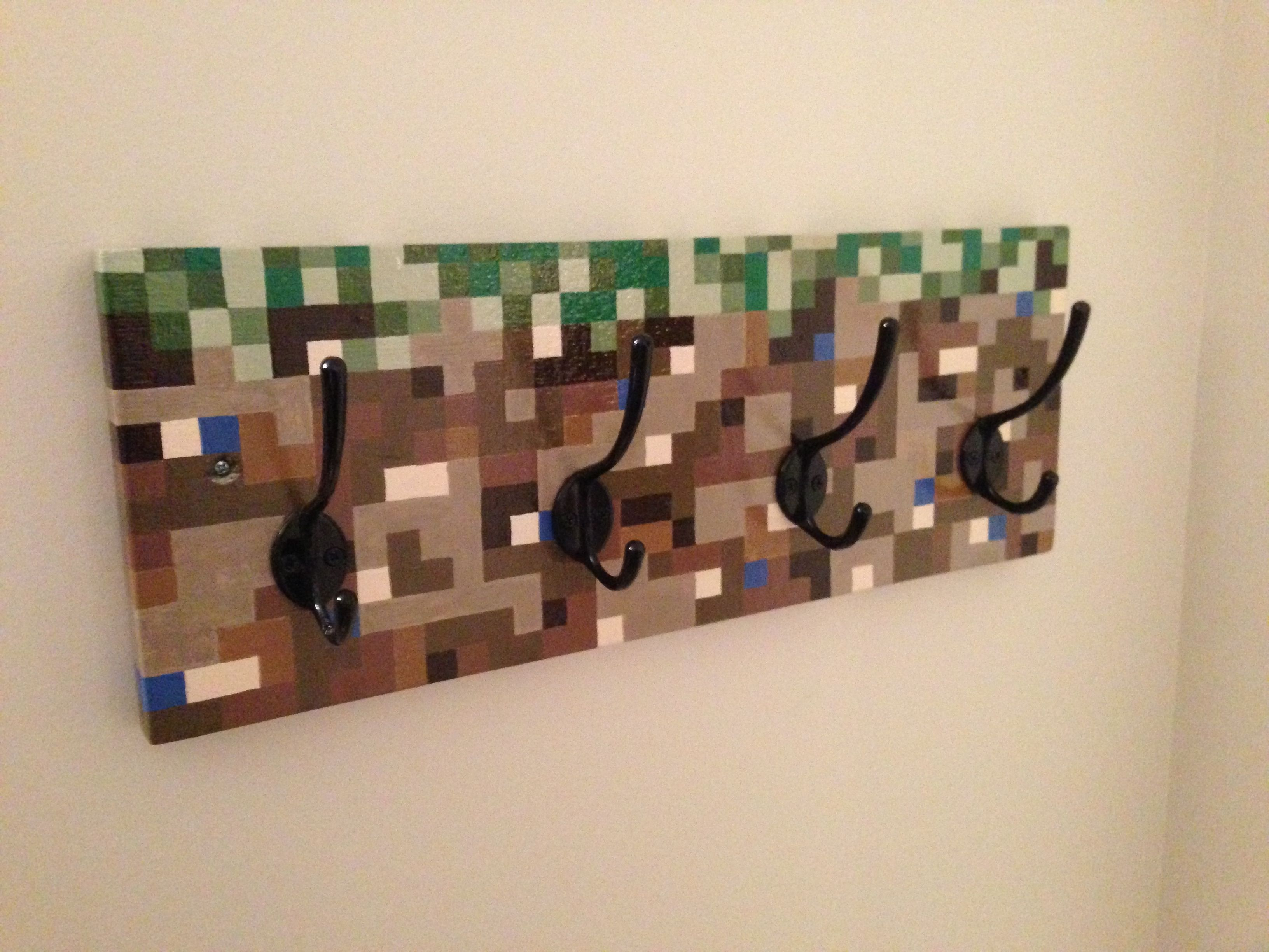 minecraft coat rack created by mike broesky. Black Bedroom Furniture Sets. Home Design Ideas