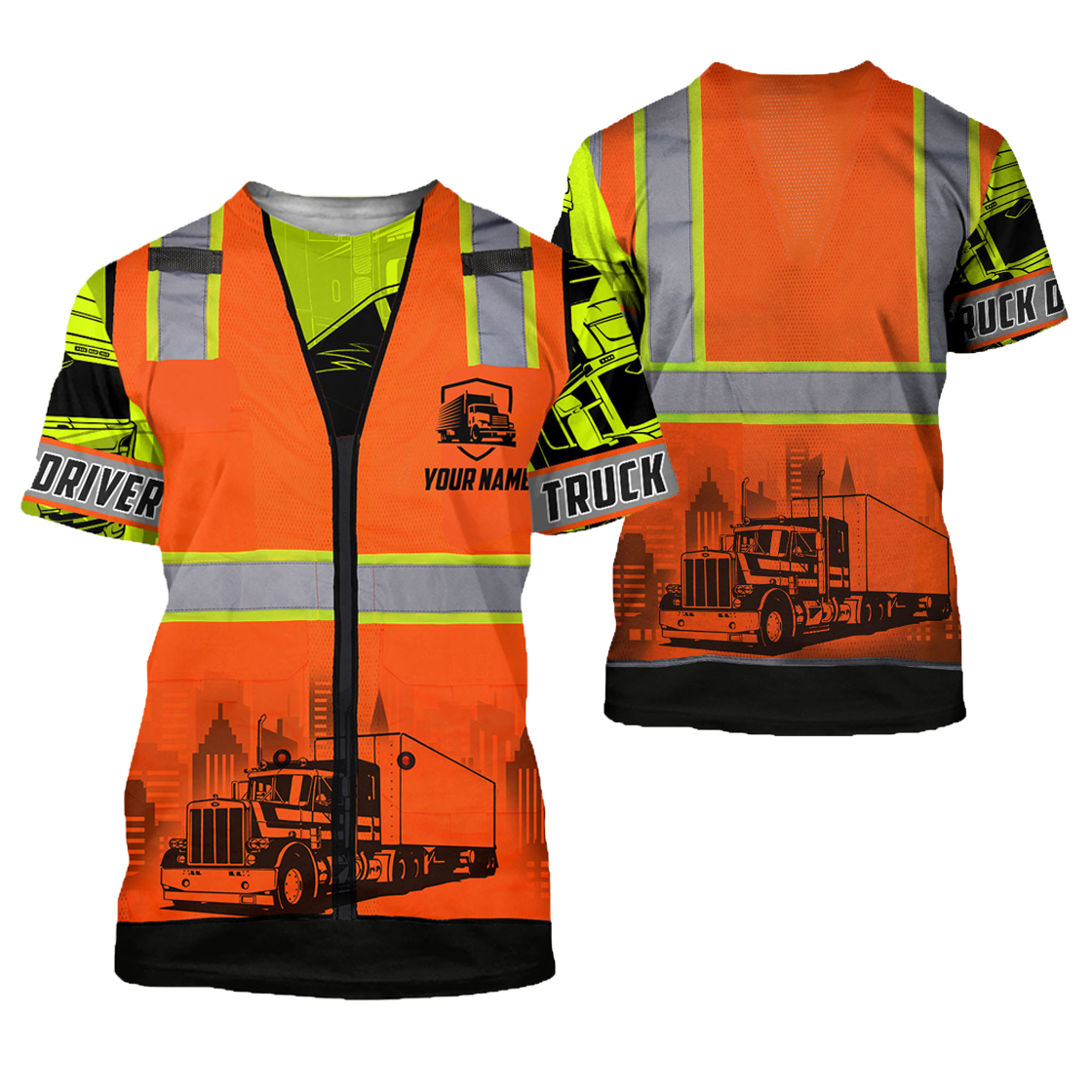 Personalized Trucker Safety 3D All Over Printed Shirts For Men And Women TN - T-shirt / 4XL