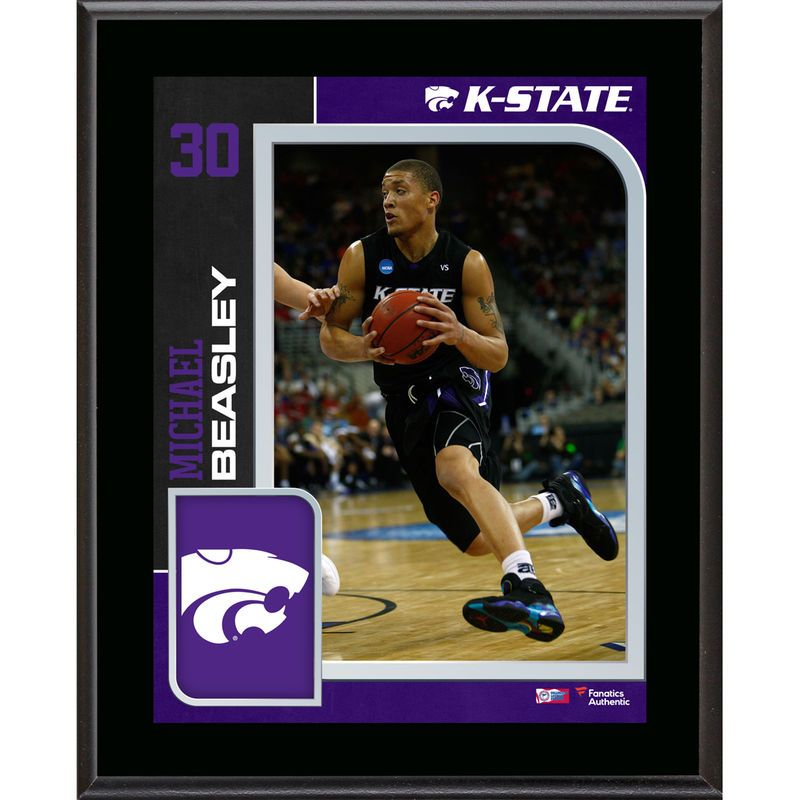 """Michael Beasley Kansas State Wildcats Fanatics Authentic 10.5"""" x 13"""" Sublimated Player Plaque"""