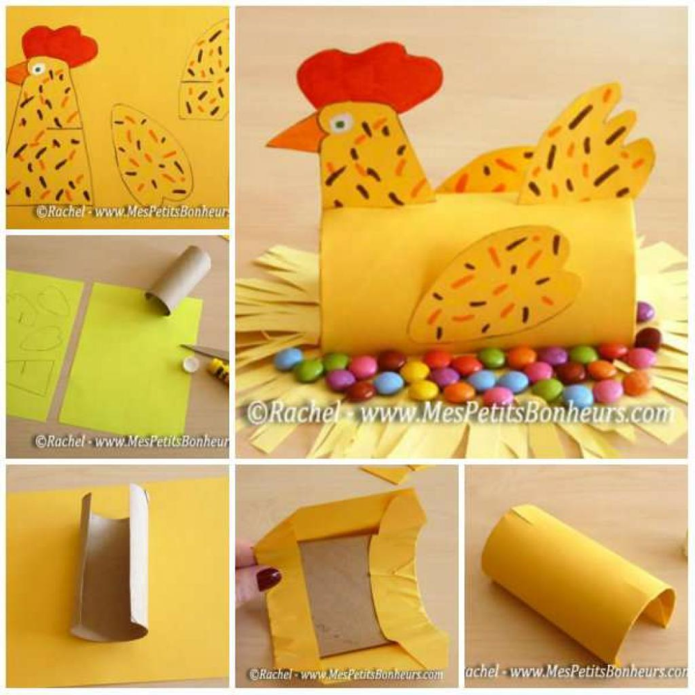Photo of 15 manual activities to do with cardboard rolls, under the Easter theme