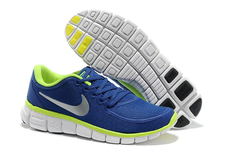 Nike Free 5.0 V4 Royal Blue Fluorescent Green 511282 019