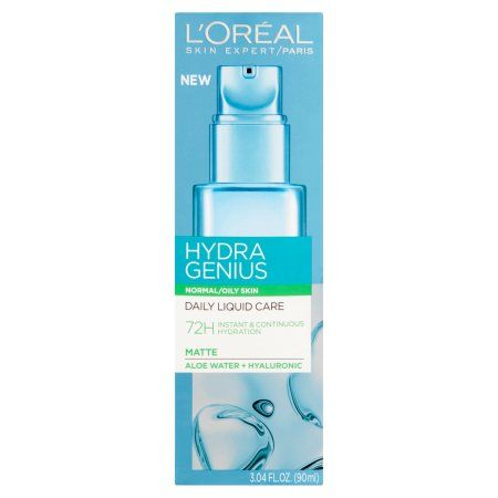 L Oreal Paris Hydra Genius Daily Liquid Care Normal Oily 3 04 Fl Oz Walmart Com Shea Moisture Products Loreal Loreal Paris