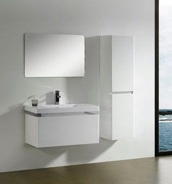 modern bathroom vanity cabinet in white single bathroom cabinets
