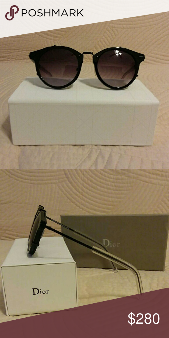 4f6fe18cfebe Christian Dior Homme sunglasses Black frame with gray gradient lenses Comes  in original case and cleaning cloth Christian Dior Accessories Sunglasses