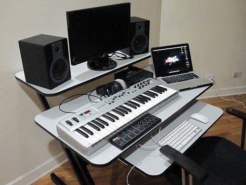 pin by jeff krajewski on music in 2019 home studio music studio desk home music rooms. Black Bedroom Furniture Sets. Home Design Ideas