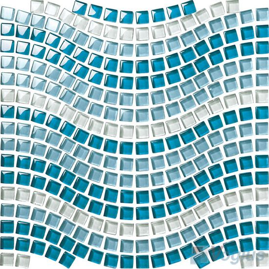 Ocean Water Waves Blue Glossy Glass Tile Wave Glass Glass Tile Mosaic Waves