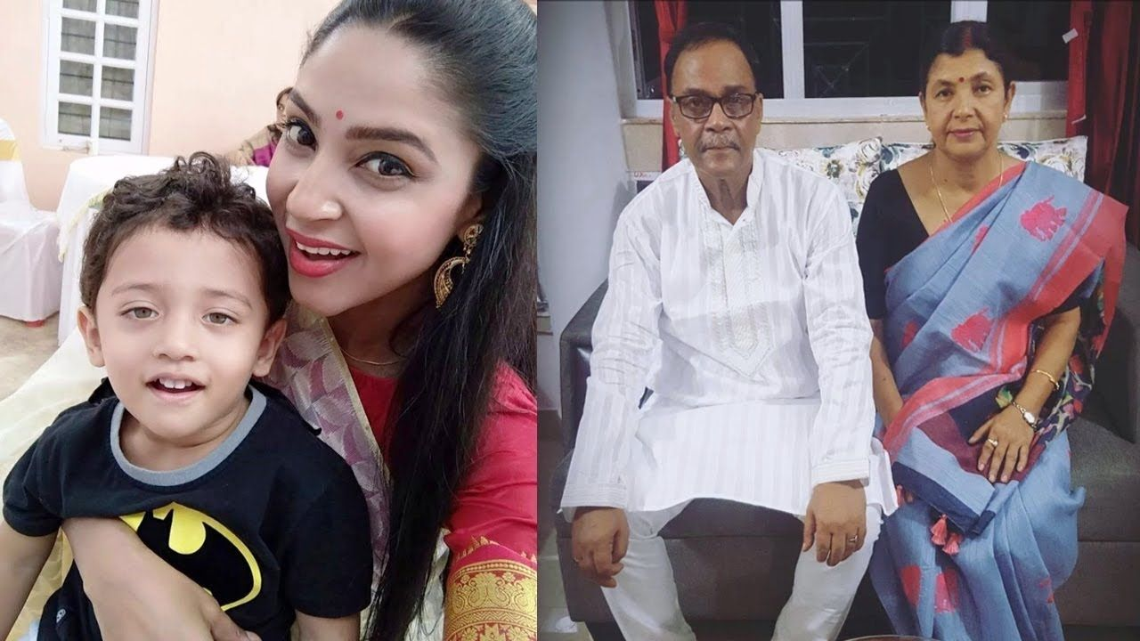 Actress Angana Roy Family Photos with Mother, Father and