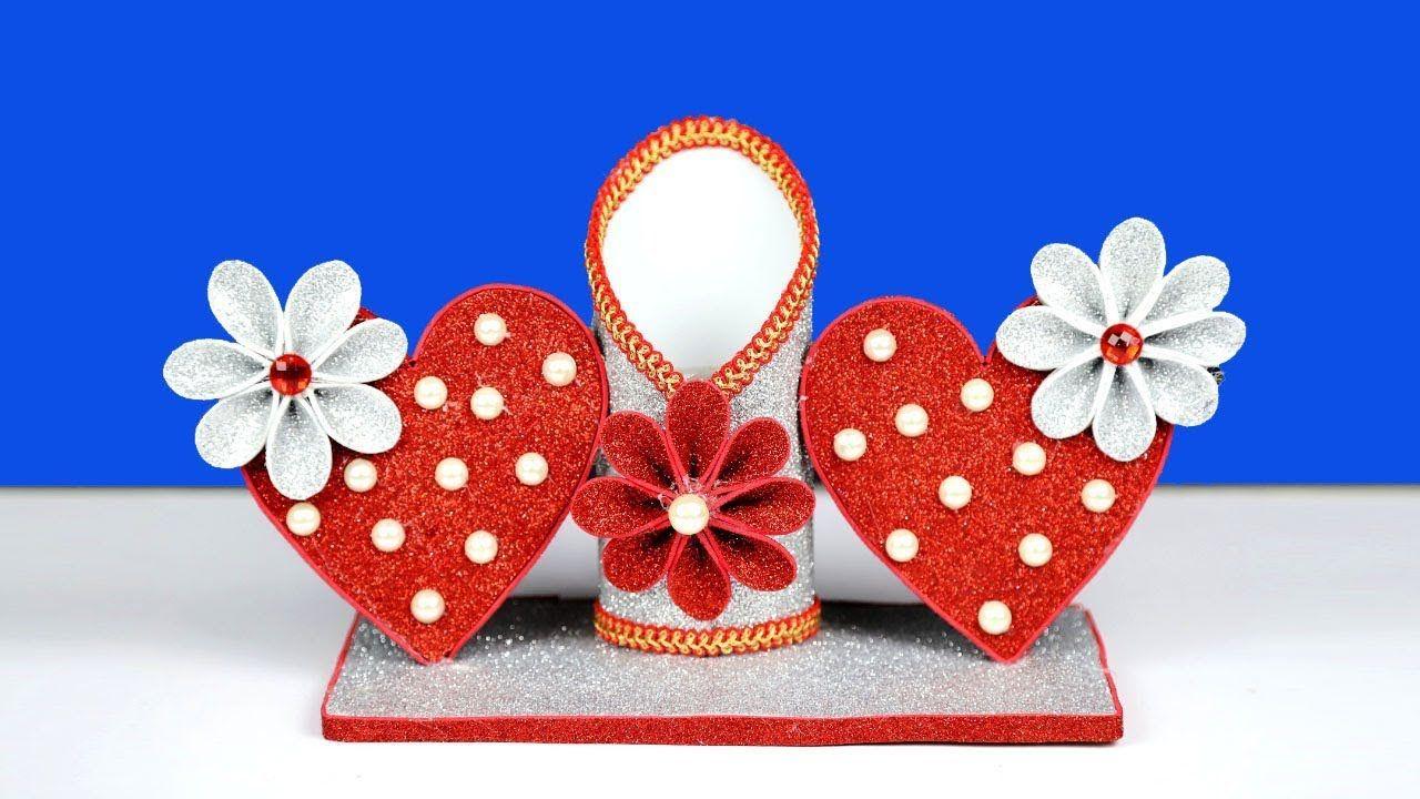 Room Showpiece Making At Home Beautiful Heart Shaped Showpiece Idea Diy Valentines Crafts Design Crafts Valentine Crafts