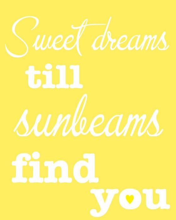 Printable Digital Art   Sweet Dreams Nursery Print~ Sweet Dreams Till  Sunbeams Find You