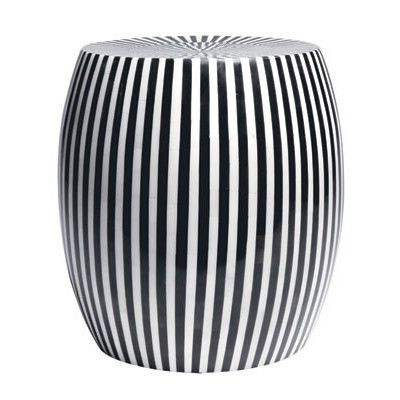 Side Table In A Striped Black