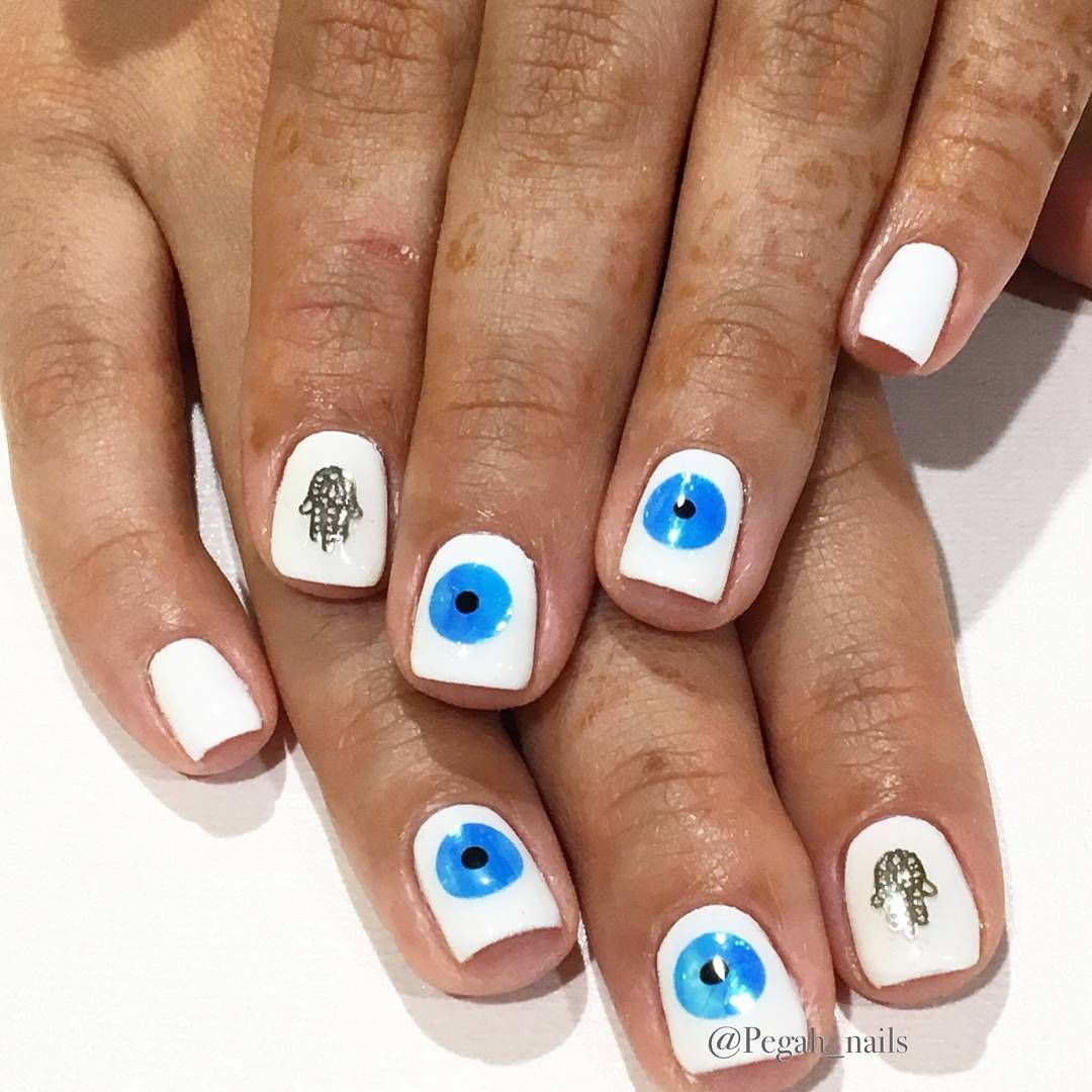 evil eye nails ideas | Nail art design | Pinterest | Evil eye nails