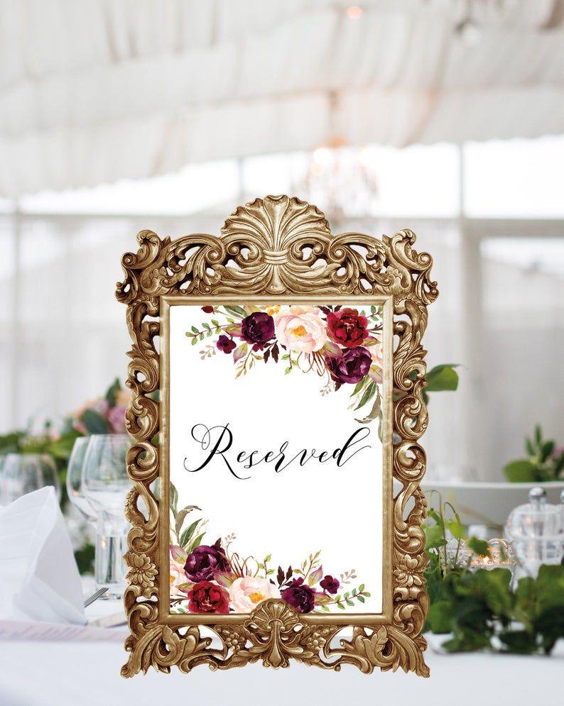 reserved sign wedding printable
