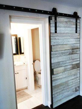 Sliding Door   White Bead Board   Contemporary   Interior Doors   Phoenix    Porter Barn