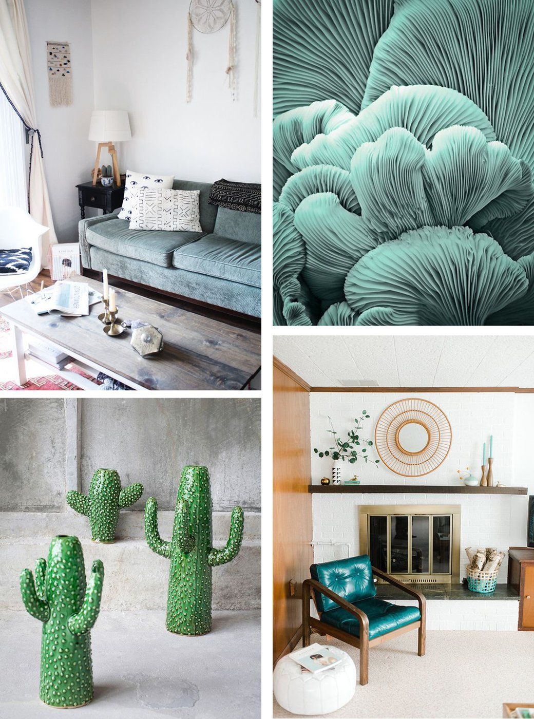 Clean, Clear Laid Back Green and Peach Interiors