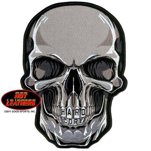 "Embroidered Iron On Patch - Hard Core Teeth Skull 5"" x 4"" Biker Patch Good Sports http://www.amazon.com/dp/B00AERHJ9Y/ref=cm_sw_r_pi_dp_X7aOvb1MMD424"
