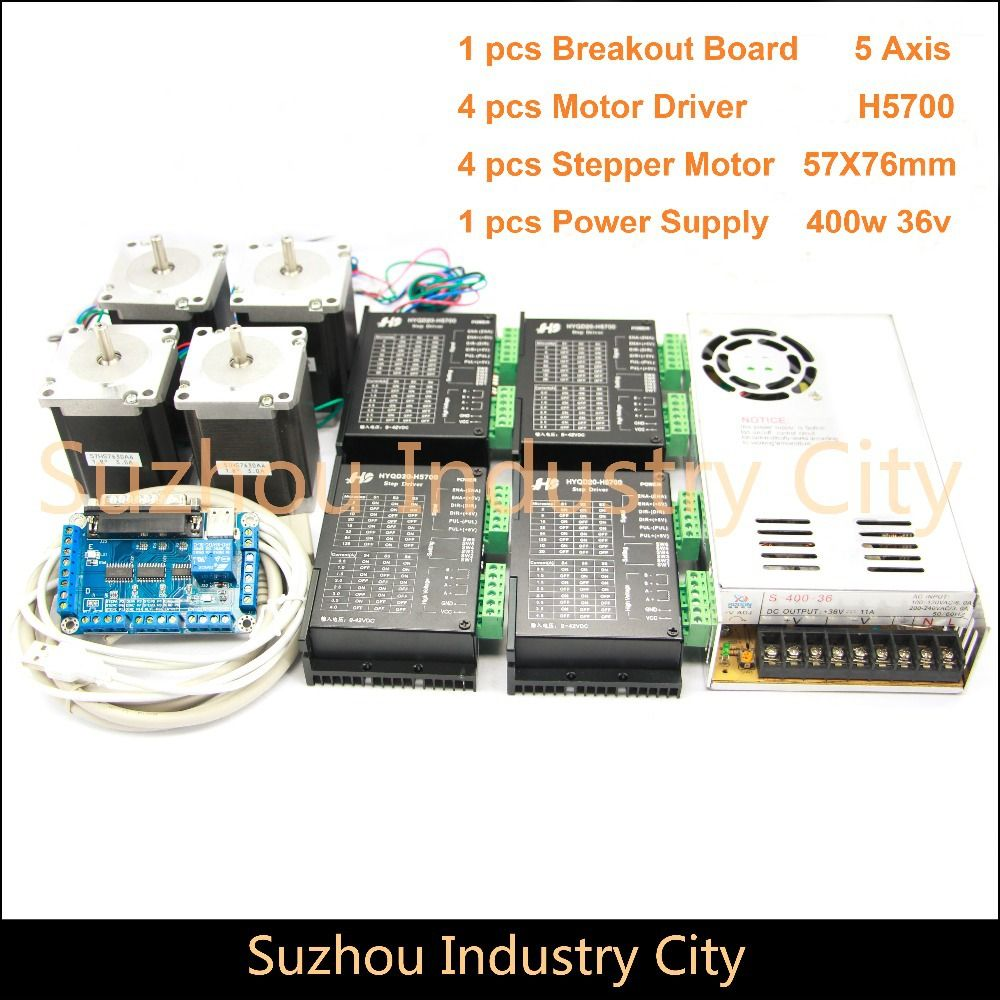 4axis Cnc Stepper Motor Control Kits Name23 Stepping Motor Driver 9 42vdc 4a Power Supply Switch 400w 36v 5axis Bre Stepper Motor Breakout Board Power Supply