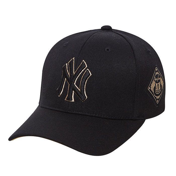 Men S Women S New York Yankees Ny Basic Logo Yankees 3d Embroidery Under Visor Adjustable Hat Black Gold Adjustable Hat Mlb Baseball Caps Baseball Cap