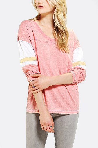 Colorfast Long-Sleeve Athletic Tunic Top #gamedaywives