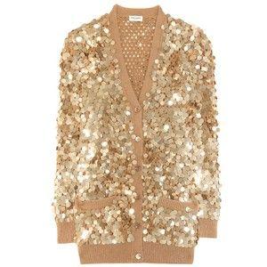 Saint Laurent Sequin-Embellished Cotton Cardigan | Fashion ...