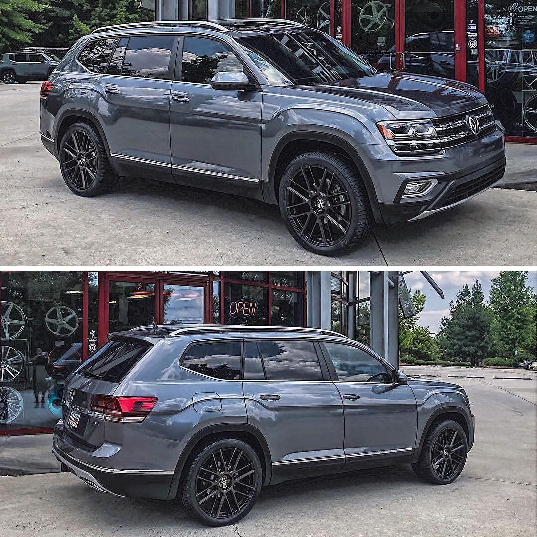 Brand New Vw Atlas At Butlertire Equipped With A Set Of 22 Mosport Wheels Courtney Butlertire Tsw Tswwheels Tsw Best Suv Cars Volkswagen Volkswagen Car