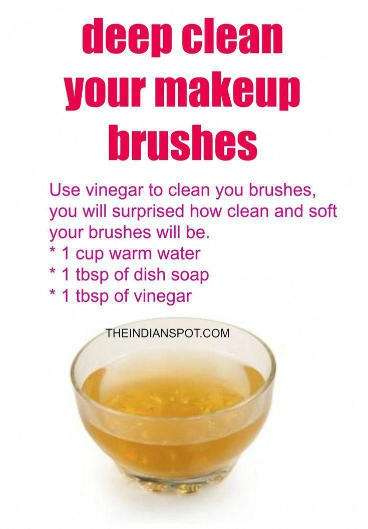 Photo of Vinegar Makeup Brush Cleaner for deep cleaning of your brushes – #Brush #Brushs …
