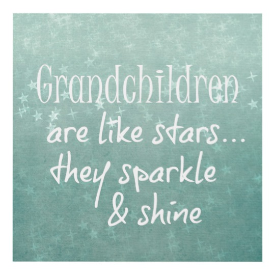 Grandchildren are like Stars Quotes Typography Panel Wall Art | Zazzle.com