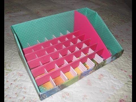 Como Fazer Organizador De Esmaltes Com Caixa De Sapato Caixa
