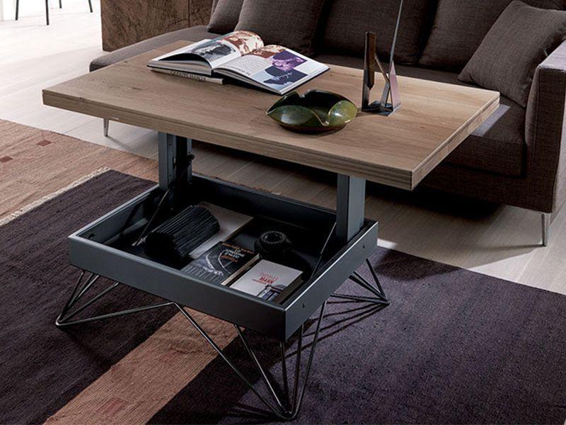 Table Basse Reglable La Maison Du Convertible Raggio En 2020 Table Basse Reglable Table Basse Relevable Table Transformable