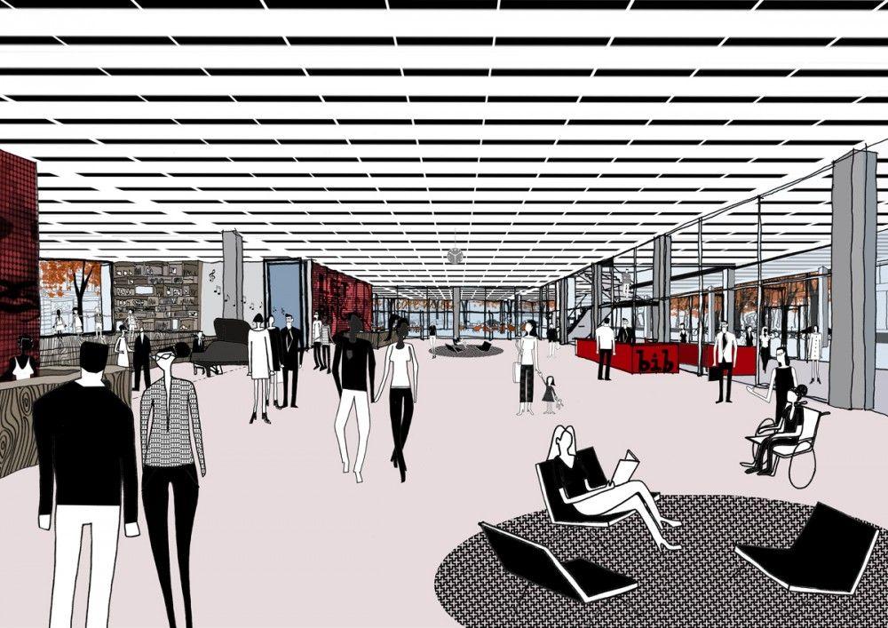 Mecanoo, Martinez + Johnson Selected to Redesign Mies' MLK Memorial Library