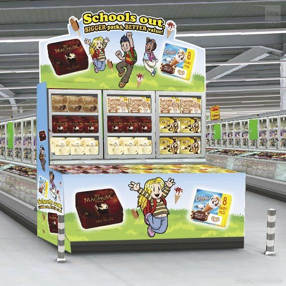 Asda Ice Cream Pos Showcase Blow Creative The Results Driven Multi Media Agency Pos Point Of Purchase Ice Cream