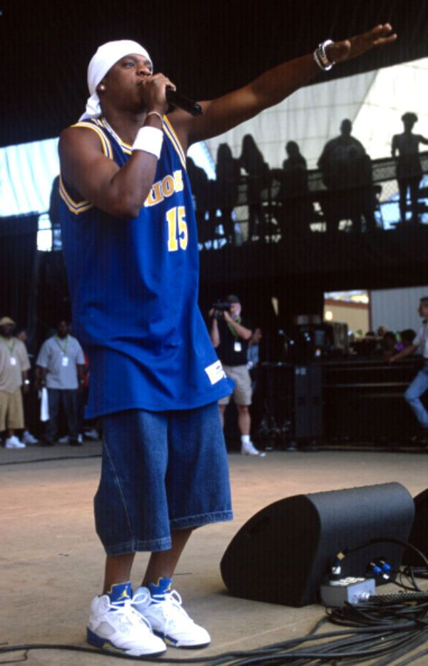 Jay-Z wearing Air Jordan 5 V Retro Laney