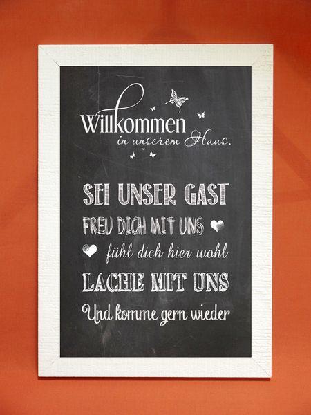 Kunstdruck Willkommen In Unserem Haus Von Foto Design