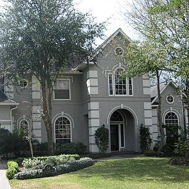 stucco homes painted gray stucco transforms the look of a home we can make a exterior paint ideasstucco