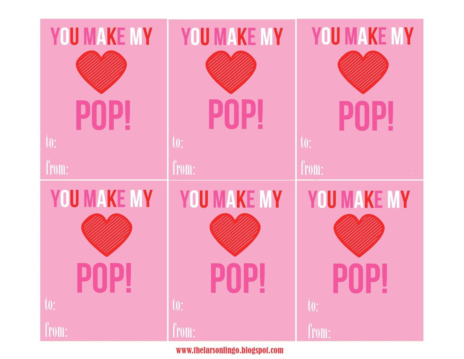 graphic about You Make My Heart Pop Valentine Printable called Your self create my Middle Pop Absolutely free Printable Valentines Working day