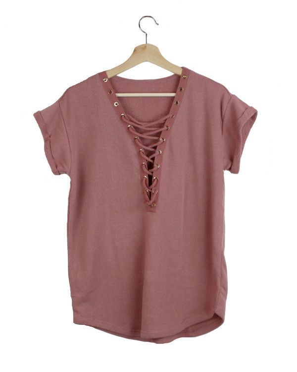Cassie French Terry Lace-Up Top