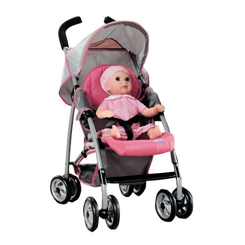 Chicco Mini Doll Stroller - Pink and Grey   Toys, Toys r us and Minis