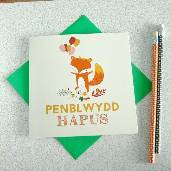 Penblwydd Hapus Happy Birthday Card In Welsh Happy Birthday Cards Birthday Cards Welsh Cards