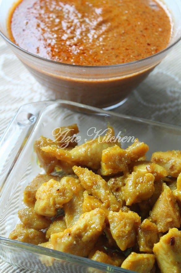 Azie Kitchen Kuah Kacang Dan Sate Ayam Goreng Sate Ayam Cooking Recipes Dutch Oven Recipes Cast Iron
