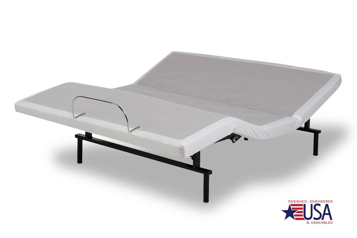Leggett & Platt Vibrance Modern White Adjustable Bed | Adjustable ...