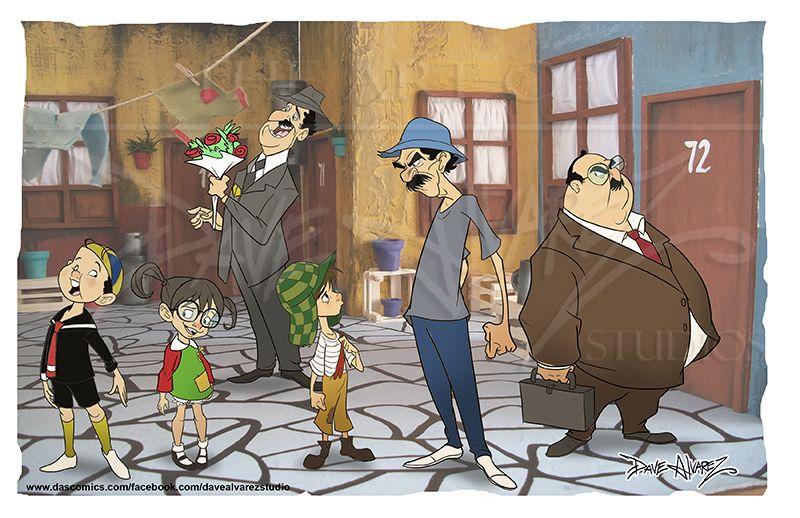 Que Bonita Vecindad By Davealvarez On Deviantart Walpaper Desenho Imagens De Desenhos Animados Desenhos Animados