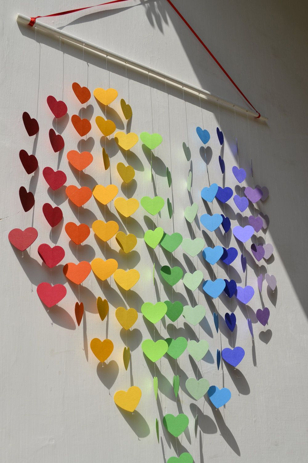 baby shower cards rainbow heart mobile baby paper hearts paint sample