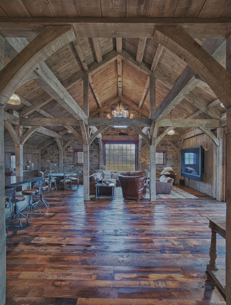 Build Party Barn - Carolina Timberworks House