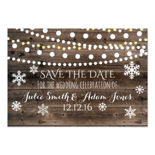 Winter Wedding Save The Date Card