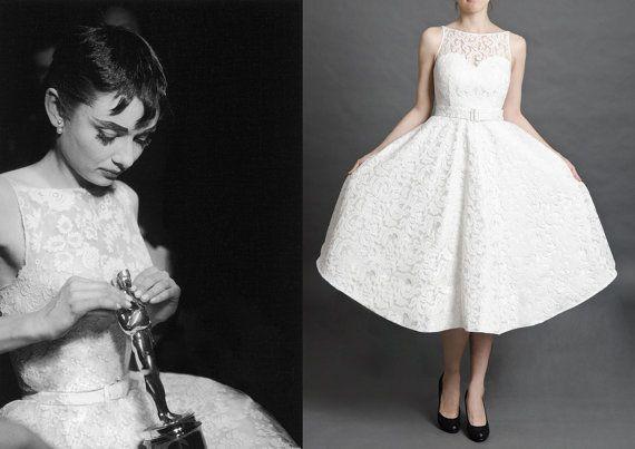 Audrey-Hepburn-Inspired Wedding Dress