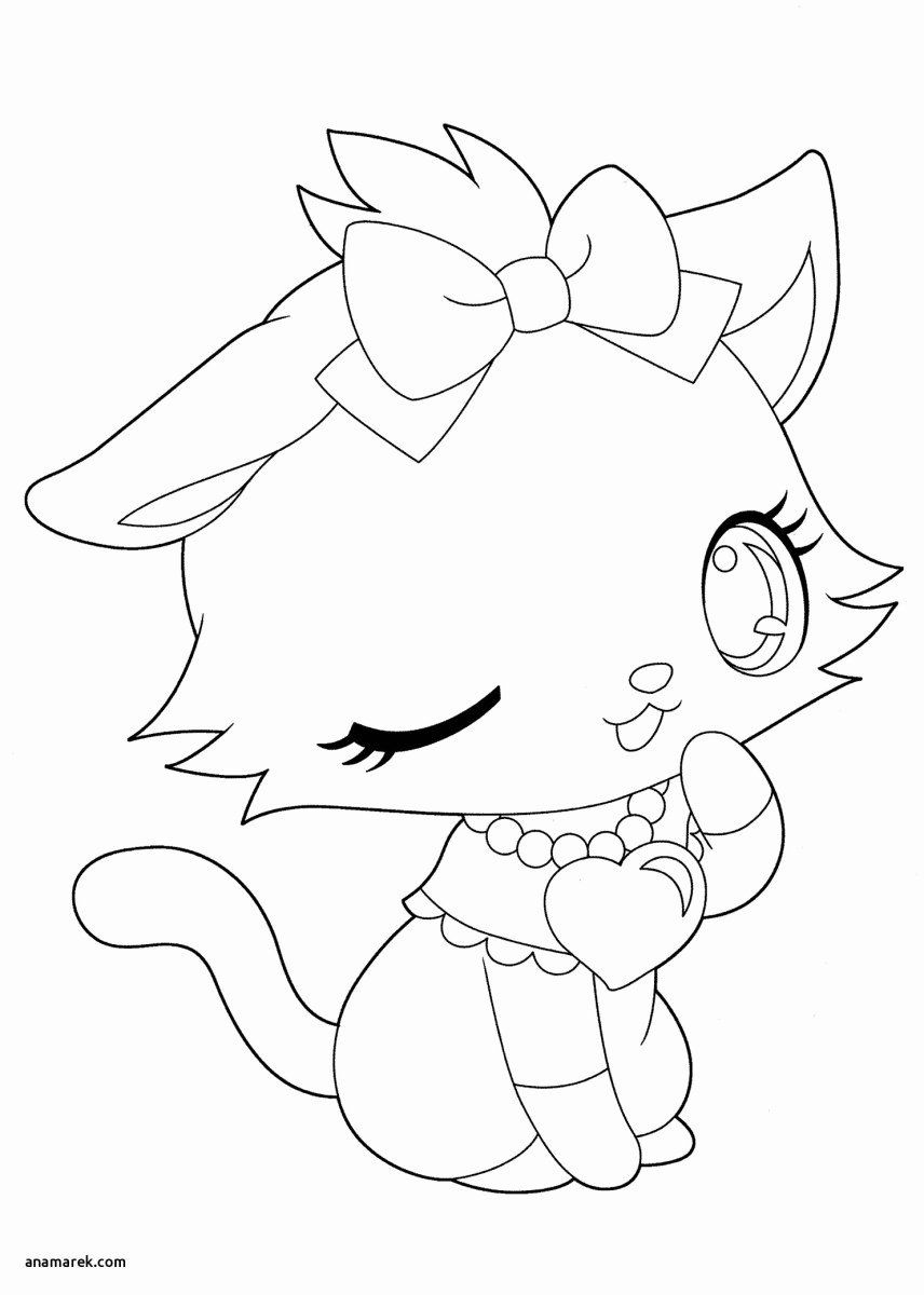 Kitty Cat Coloring Page Inspirational Kitty Cat Coloring Pages Kitty Cat Coloring Pages Anime In 2020 Kitty Coloring Unicorn Coloring Pages Cute Coloring Pages