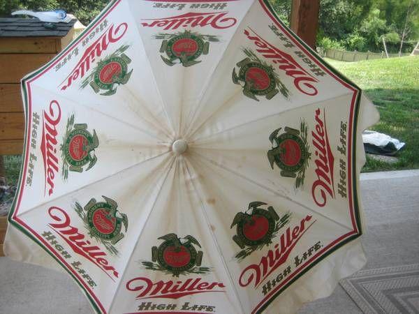 Miller High Life Beer Patio Umbrella
