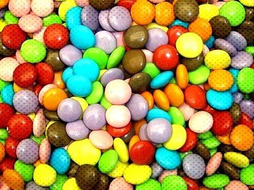 coated chocolate beans (not smarties) from 100gramssugar coated chocolate beans (not smarties) from