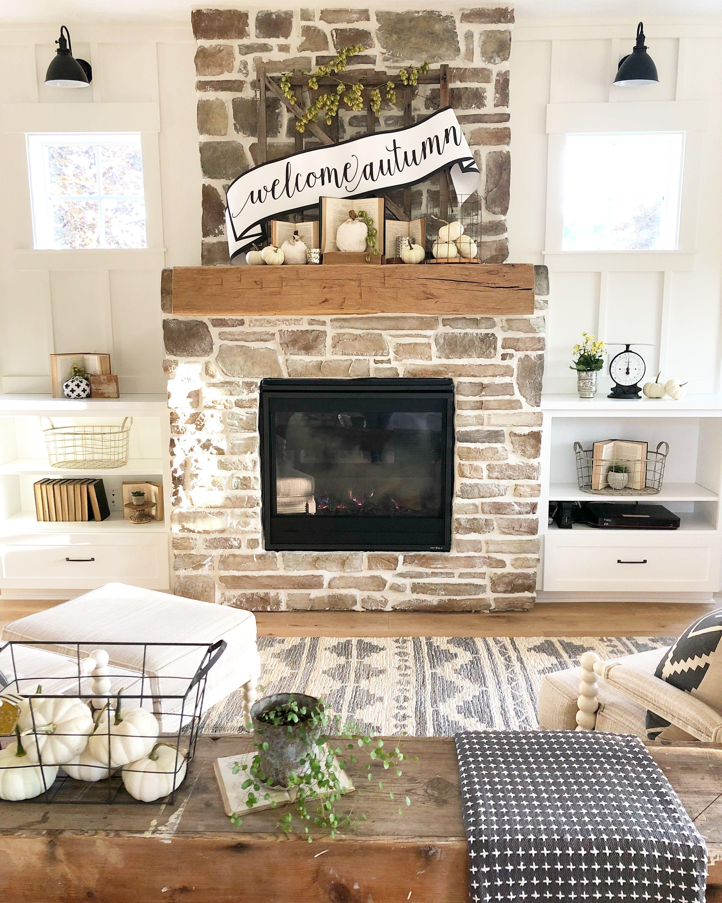 Fall Mantel Decor Farm House Living Room Country Kitchen