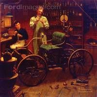 Norman Rockwell Painting of Henry ad Clara Ford