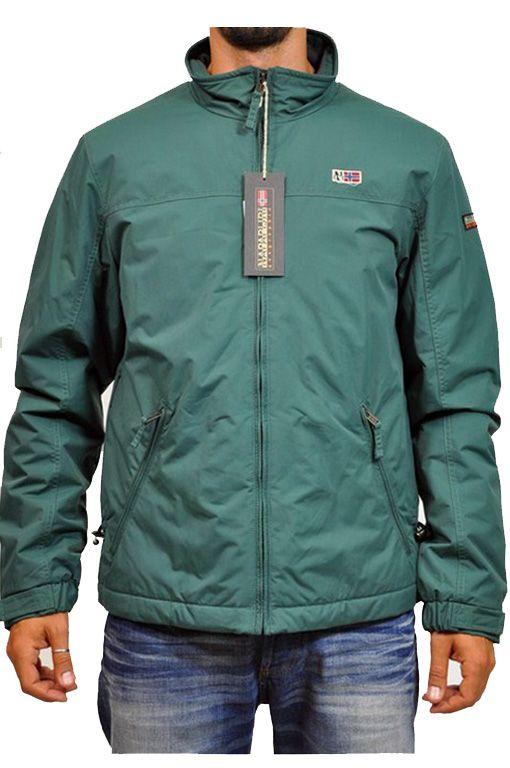 online retailer 66497 5516e Napapijri, giubbotto verde   Giubbotti invernali uomo ...